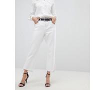 Patti - Jeans mit hohem Bund geradem Bein und grobem Saum