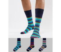 Gestreifte Socken im 3er-Pack