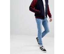 Snap - Enge Jeans in schattiertem Mittelblau