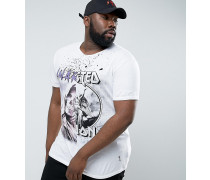 PLUS - T-Shirt mit Halb- und Halb-Print