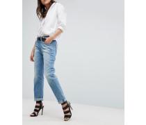 Midge Saddle - Boyfriend-Jeans mit aufgerolltem Saum