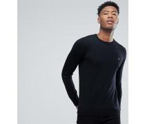 TALL - Mullen - Schmal geschnittener Merino-Pullover in Schwarz