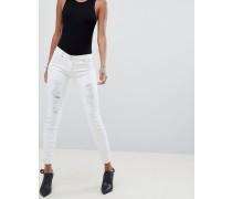 WR.UP - Mittelhohe formende Skinny-Jeans mit Push-Effekt und Rissen