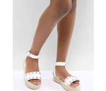 Jake - Espadrille-Sandalen mit Nieten