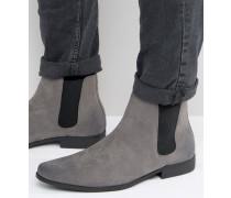 DESIGNe Chelsea-Stiefel in Wildlederoptik