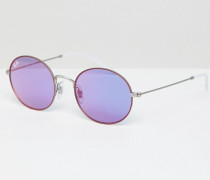 0RB3594 - Runde Sonnenbrille mit lila Gläsern