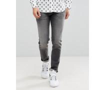Schmale Jeans in verwaschenem Schwarz