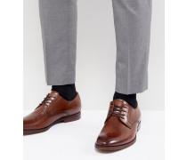 Yilaven - Derby-Schuhe aus Leder in Hellbraun