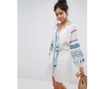 Kleid mit Folk-Stickerei