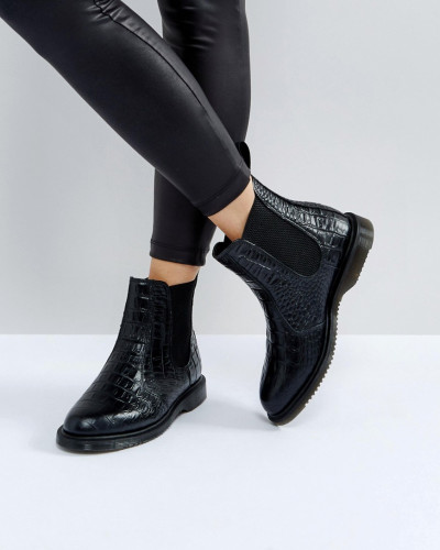 Dr.Martens Damen Kensington Flora - Chelsea-Stiefel in Kroko-Optik Fälschung Günstig Online Rabatt Großhandel mSpe6J