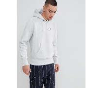 hoodie with small logo in grey