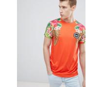 T-Shirt mit tropischem Muster