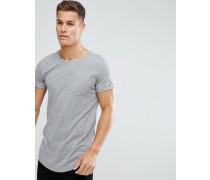 Langes T-Shirt aus Baumwolle in genoppter Optik