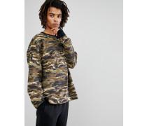 x XO - Oversize-Sweatshirt mit Rundhalsausschnitt und Military-Muster 57534751