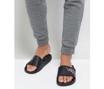 Slider-Sandalen mit Schlangenhautmuster