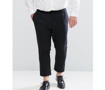 PLUS - Gekürzte Hose mit Plisseefalte vorne