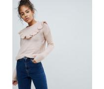 Pullover mit Rundhalsausschnitt und Rûschenverzierung