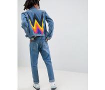 Jeansjacke mit Regenbogendesign