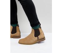 Bronzo - Chelsea-Stiefel aus Wildleder in Stone