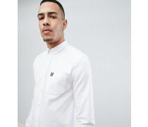 TALLes Oxford-Button-Down-Hemd und Logo