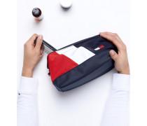 Speed - Kulturbeutel in den markentypischen Farben Marine/Weiß/Rot