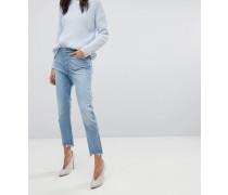 Bella - Schmale Jeans in Vintage-Optik mit kurzem Schnitt und offenem Saum