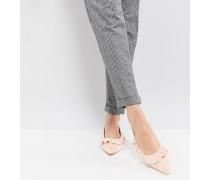 Spitze flache Schuhe in Rosa