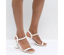 Sandalen mit Blockabsatz in Weiß
