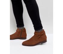 Cutler - Hellbraune Chelsea-Stiefel aus Wildleder