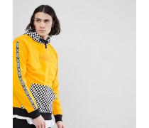Pullover mit Kapuze mit Schachbrettmuster