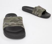 Slider-Flip-Flops mit Military-Muster