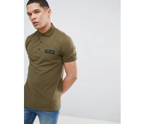 Pique-Polohemd mit Military-Logo