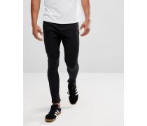Jeans mit tiefem Schritt Biker-Rissen am Knie und Reißverschluss am Knöchel