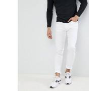 Skinny-Jeans in Weiß mit Milano-Logo