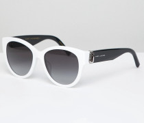 181/S - Eckige Sonnenbrille in Weiß