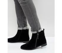 Chelsea-Stiefel mit seitlichem Reißverschluss