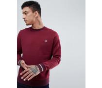 Burgunderrotes Sweatshirt mit Rundhalsausschnitt