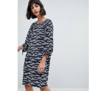 Ria - Bedrucktes Kleid mit Ärmeln zum Binden