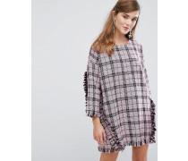 Oversize-Kleid aus Tweed mit Rüschen