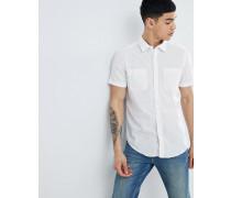Hemd aus Baumwoll-Leinenmischung in normaler Passform
