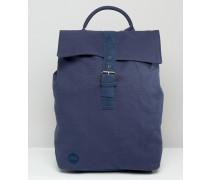 Marineblauer Canvas-Rucksack mit Umschlag