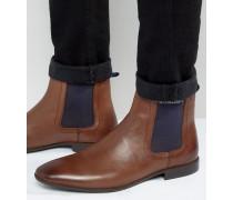 Chelsea-Stiefel aus braunem Leder