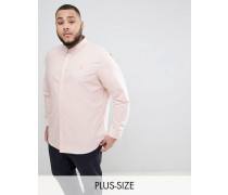 PLUS - Brewer - Schmal geschnittenes Oxford-Hemd in Rosa