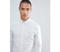 Hemsley - Schmales blau gestreiftes Hemd