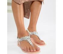 Dory - Verzierte flache Gummi-Sandalen