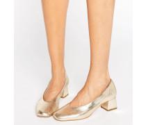 Antidote - Mittelhohe Schuhe aus goldenem Leder