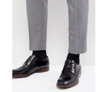Yilaven - Derby-Schuhe aus Leder in Schwarz