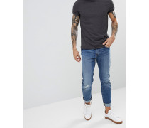 slim jeans in stone wash with rips