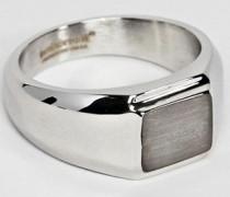 Quadratischer Ring in gebürsteter Silberoptik