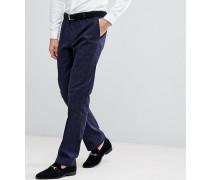 Schmale elastische Anzughose aus Tweed mit Karomuster